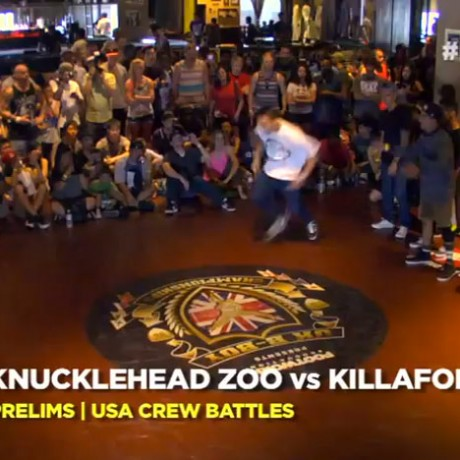 UK B-boy USA 2013 – Knucklehead Zoo vs Killafornia (Prelims)