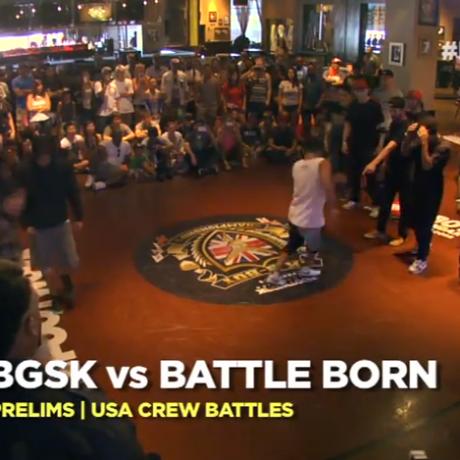 UK B-Boy Champs 2013 USA Crew Qualifier – BGSK vs Battle Born (Prelims)