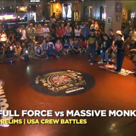 UK B-boy USA 2013 – Full Force vs Massive Monkees (Prelims)